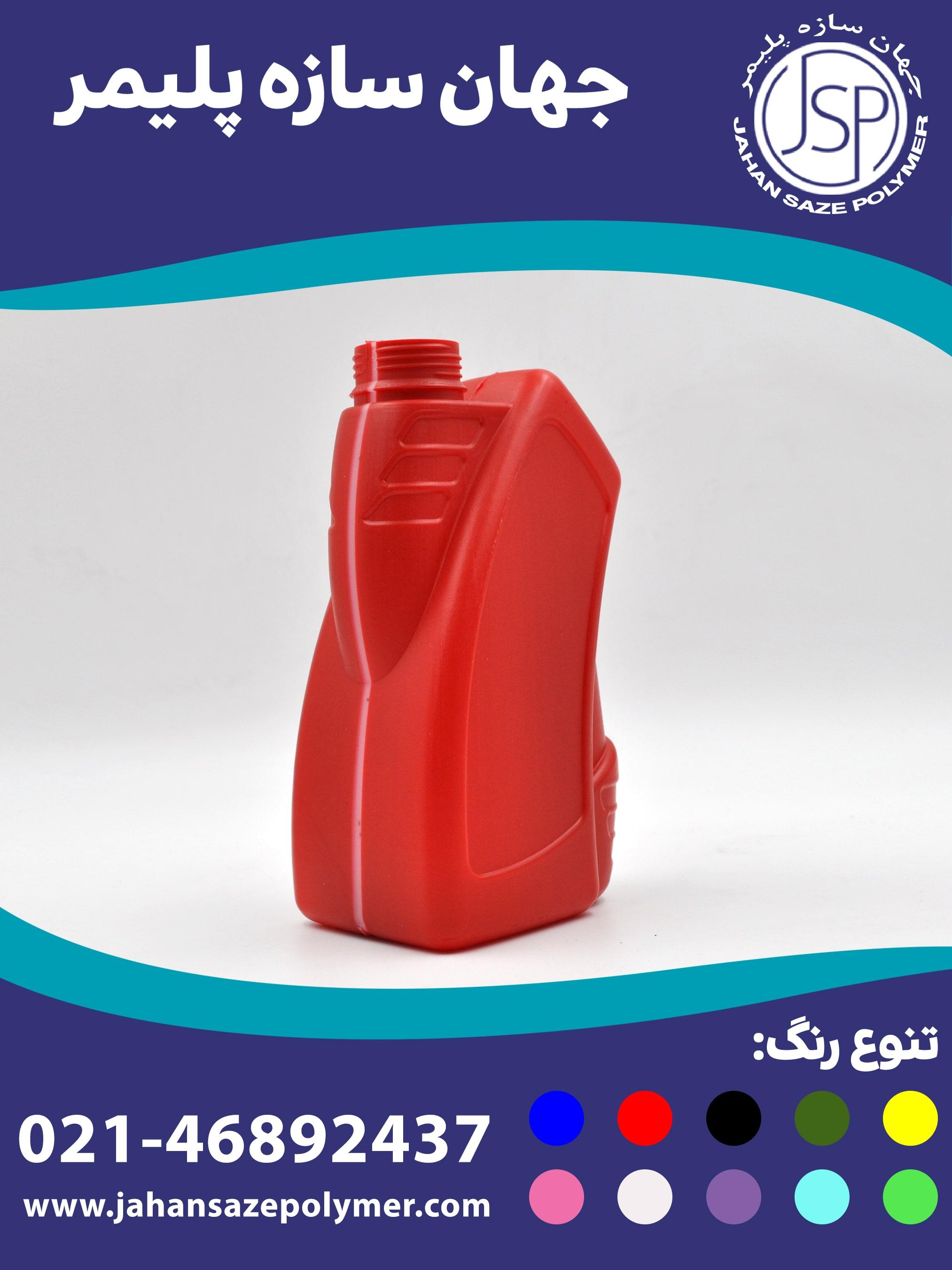 بطری 1 لیتری صنعتی گیج دار طرح توسکا